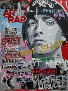 "Saatchi Art Artist Wojtek Bąbski; Collage, ""Eminem"" #art"