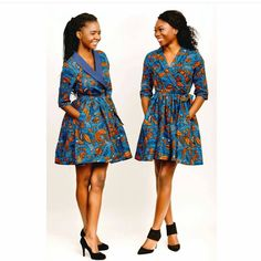 """1,249 Likes, 5 Comments - Iwear_African (@iwear_african) on Instagram: """"Dresses that make you smile! The classic wrap dress reinvented by @MsEDivine in beautiful prints.…"""""""