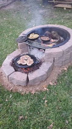 35 backyard landscaping ideas on a budget 21 - Diy garden decor, Backyard fire, Backyard . Cheap Fire Pit, Diy Fire Pit, Fire Pit Backyard, Backyard Patio, Backyard Landscaping, Backyard Seating, Backyard Fireplace, Outdoor Fireplaces, Fire Pit Grill
