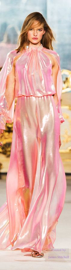 This is shiny, (Mom said to always be nice), but it sure is frumpy! ~ Genny Collection Spring 2015 Ready-to-Wear