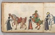 Album of Tournaments and Parades in Nuremberg Date: late 16th–mid-17th century Geography: Nuremberg Culture: German, Nuremberg Medium: Pen and ink, watercolor, gold and silver washes; paper bound in gold-tooled leather Dimensions: cover: 14 x 10 3/8 in. (35.56 x 26.35 cm); page: 13 5/8 x 9 7/8 in. (34.61 x 25.08 cm)