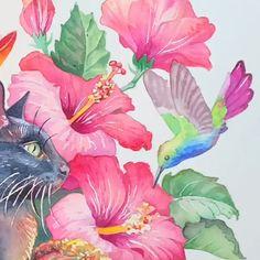 Watercolor Painting - Gloria's World Watercolor Video, Watercolor Flowers, Watercolor Paintings, Acrylic Paintings, Watercolors, Fabric Painting, Painting & Drawing, Painting Abstract, Art Tutorials