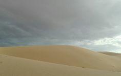 Iran desert, cloudy sky