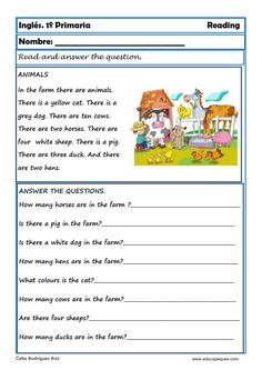 English Grammar For Kids, Learning English For Kids, Teaching English Grammar, English Worksheets For Kids, English Lessons For Kids, Kids English, English Reading, English Writing, First Grade Reading Comprehension