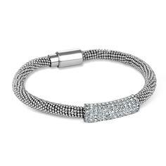 Jon Richard Silver Bar and Popcorn Chain Bracelet