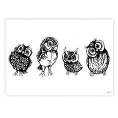 Friends plakat fra Stine Hvid Illustrations - 2 størrelser - Illustrationer - DesignFund