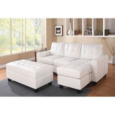 Acme Furniture Lyssa Sectional Sofa with Ottoman   from hayneedle.com