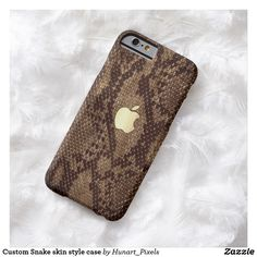 Naturally Snake skin style case with Apple logo for all iPhone