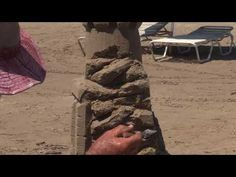 Sandcastle shaping - Make a EPIC rock face - It only takes 60 seconds an... South Padre Island, Rock, How To Make, Skirt, Locks, The Rock, Rock Music, Batu, Rock Roll