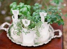 Green and White Organic Wedding