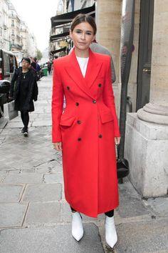 Miroslava Duma is seen on September 28 2017 in Paris France