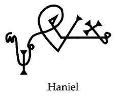 "Sigil for the angel Haniel - the guardian of DecemberHaniel (Hebrew: הניאל, ""Joy of God"" or Hebrew: חַנִּיאֵל, ""Grace of God""). AKA Anael"