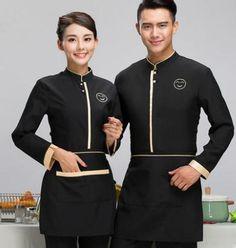 Chinese restaurant uniforms chinese hotel waiter uniforms restaurant waitress un Cafe Uniform, Salon Uniform, Waiter Uniform, Spa Uniform, Hotel Uniform, Kellner Uniform, Waitress Outfit, Staff Uniforms, Work Uniforms
