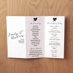 PRINTABLE Trifold Wedding Program  Customized Just by birDIYdesign