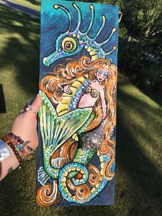 A personal favorite from my Etsy shop https://www.etsy.com/listing/527994252/mermaid-inner-sea-horse-with-hand