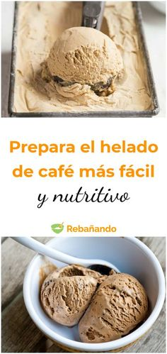 Healthy Dessert Recipes, Healthy Snacks, Desserts, Healthy Cafe, Healthy Ice Cream, Love Ice Cream, Sin Gluten, Sweet Recipes, Food And Drink