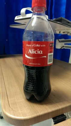 Share a coke with Alicia my cousins name is Alicia Share A Coke, Cousins, Coca Cola, Soda, Water Bottle, Drinks, Bom Dia, Drinking, Beverage