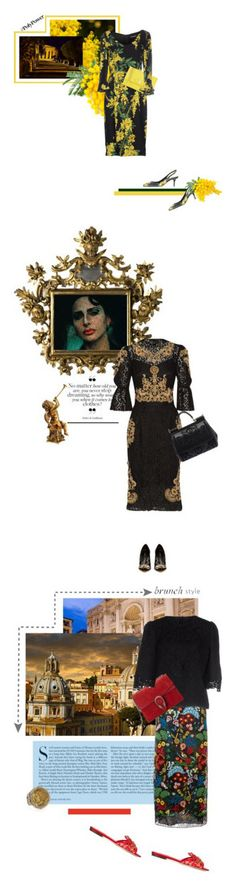 """Maria Teresa"" by theitalianglam ❤ liked on Polyvore featuring Dolce&Gabbana, Salvatore Ferragamo, dolcegabbana, PolyPower, baroque, bytheitalianglam, Kershaw, Valentino, Konstantino and Gucci"