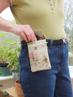 Daisy Two Phone Carrier, Pouch for Belt, Waist Pouch, Cell Phone Hip Case, Holder, Mobile Phone Wallet, iPhone Galaxy