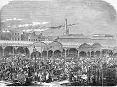 Eastern market stood in the 1800's on the site of The Southern Cross Hotel Melbourne