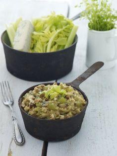 Risotto z gorgonzolą i selerem naciowym