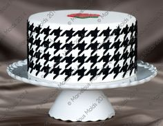Houndstooth Cake Design
