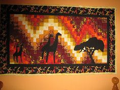 Another Bargello tutorial. You may have to translate it (Chrome offered this automatically for me). Bargello Quilts, Bargello Quilt Patterns, Quilting Patterns, Quilting Ideas, Small Quilts, Mini Quilts, Panel Quilts, Quilt Blocks, Watercolor Quilt