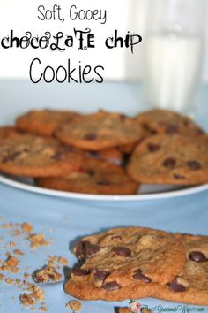 Soft, Gooey Chocolate Chip Cookies- Big, delicious bakery-style chocolate chip cookies. From TheGraciousWife.com