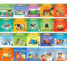 20pcs/set  English Picture Books 15x15cm For Children Baby famous Story English Tales Series Of Child Book Farm Story #Affiliate