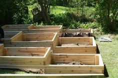 Terraced Garden Boxes in the front garden would be great for vegies
