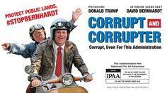 Nomination for @realdonaldtrump's most corrupt cabinet member: Department of Interior @SecBernhardt bit.ly/351l9Q8 #StopBernhardt
