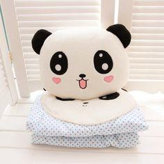 kawaii panda pillow and plush