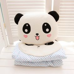 kawaii panda pillow and plush