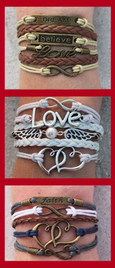 Choose your favorite 3 bracelets for FREE - just pay shipping! Over 60 designs and adding more weekly. Free bracelet deal ends 7/31/15. Coupon: 3forfree -->  http://www.gomodestly.com/pinterest-sale-3-for-free/