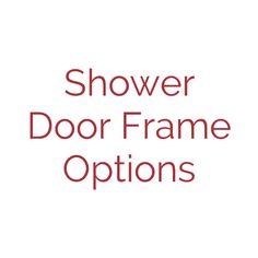Colin, a Re-Bath Omaha design consultant, has a short video to explain some of the options for frames, semi-framed, or frameless shower doors. Frameless Shower Doors, Design Consultant, Frames, Bath, Bathing, Frame, Bathroom, Bathtub, Bath Tub