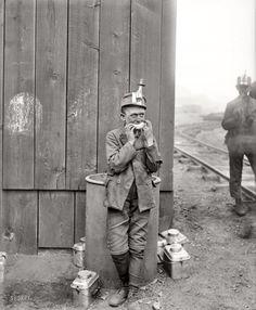 "Kingston, Pennsylvania, circa 1900. ""Breaker boy, Woodward coal mines."" Detroit Publishing Company."