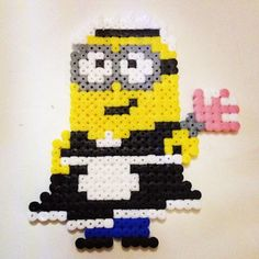 Minion - Despicable Me hama beads by chopsmaloney