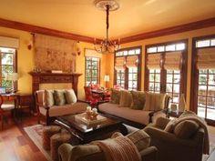 Rustic Yellow Living Room