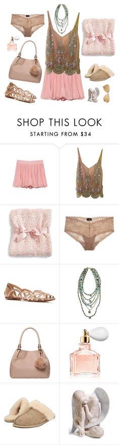 """""""♫ The Eden Project - Jupiter"""" by wind-dancer ❤ liked on Polyvore featuring Cynthia Rose, Barefoot Dreams, Cosabella, Miss Selfridge, Dorothy Perkins, Guerlain, UGG Australia, Lladró and vintage"""