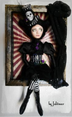 Gothic circus art doll sculpture figurine wall art by Apt2A, $80.00