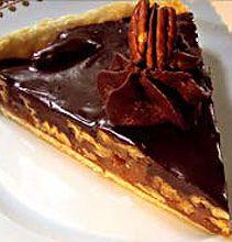 Chocolate Pecan Caramel Tart - A decadent tart filled with gooey caramel, chocolate & pecans!