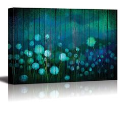 Wall26 - Watercolor Dandelions on a Field Over Teal Woode... https://www.amazon.com/dp/B01HLW77H8/ref=cm_sw_r_pi_dp_x_E5Xyyb6SADANG