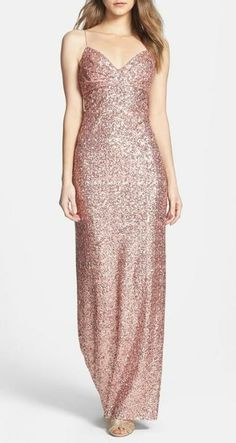 Stunning sequin gown.