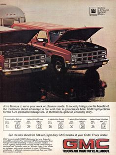 Old Pickup Trucks, Gm Trucks, Classic Trucks, Classic Auto, Classic Cars, Vintage Advertisements, Vintage Ads, Chevrolet Suburban, Bicycles