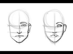 how to draw a man's face - Google Search