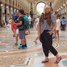 Bassike tee | Surafina scarf | Mela Purdie pants | Frankie4 Footwear sandals