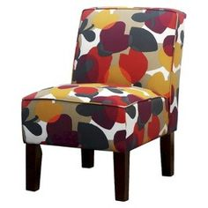 Burke Slipper Chair - Chevron