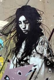 Cool urban art - woman