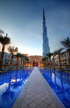 Burj Dubai perspective from souk al bajar, Dubai UAE | Keep The Glamour ♡ ✤ LadyLuxury ✤