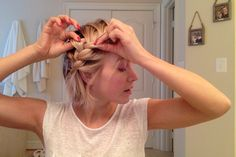 The Best Messy Braid Ever Julianne Houghs how to for a quick braid on short hair. Look polished after rolling out of bed, TAME the birds nest that is morning hair!